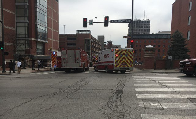 Firefighters have responded to a hazardous materials call in downtown Kansas City. Crews were called about 9:40 a.m. Friday to the 300 block of West Ninth Street. (KCTV5)