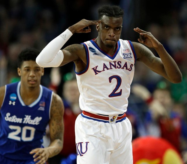 A regular starter for Kansas in 2017-18, Vick averaged 12.1 points and was third on the KU team with a 4.8 rebound average. (AP)