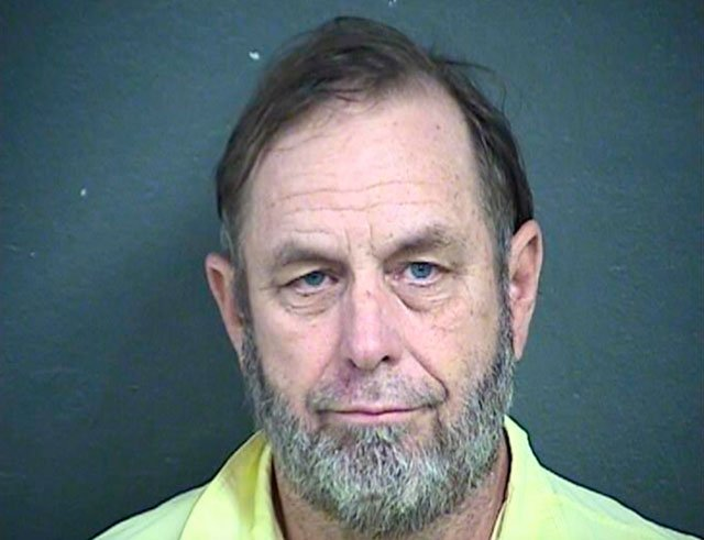 This Wednesday, April 4, 2018, booking photo provided by the Wyandotte County Detention Center, shows Jeff Henry, co-owner of the Schlitterbahn water park.