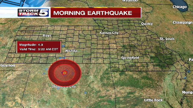 An earthquake rattled northwest Oklahoma early Monday morning – at least the fifth quake to hit the region since Saturday.  (KCTV5)