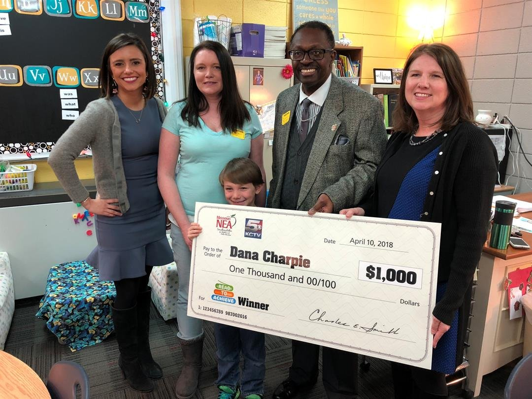 First-grade teacher Dana Charpie was nominated by a parent of one of her students. (Brett Hacker/KCTV5 News)