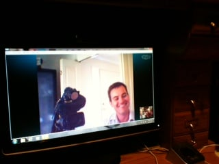 Photo Courtesy: Beth Legler of Skype interview with Australian news