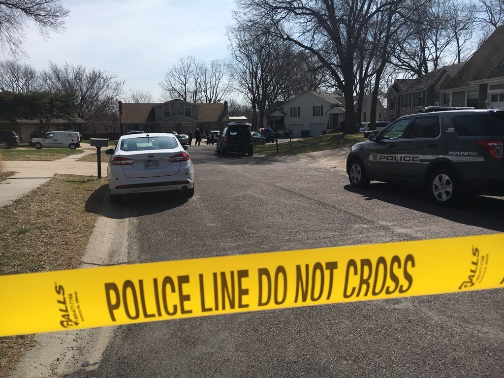 Police are investigating a deadly shooting Tuesday near 83rd Street and Switzer Avenue.   Officers say a man shot and killed his girlfriend's father. (Kelli Taylor/KCTV5 News)