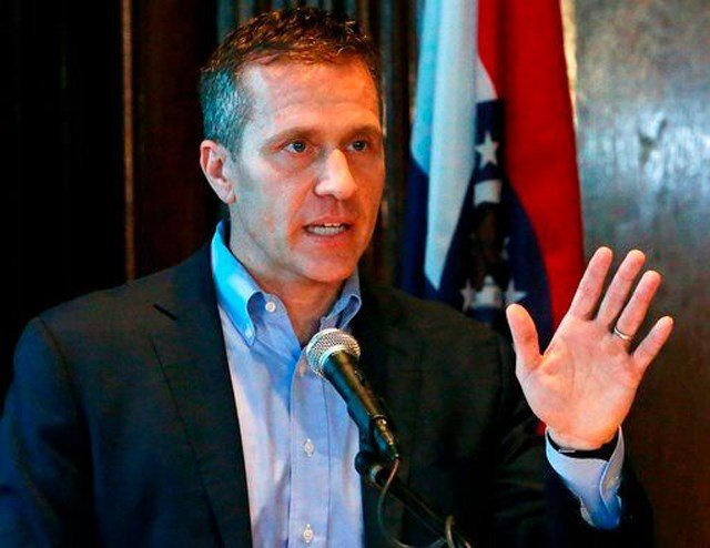 Greitens, 44, is to go to trial May 14 in St. Louis on a felony indictment of invasion of privacy for allegedly taking and transmitting a nonconsensual photo of the woman while she was partially nude. (AP)