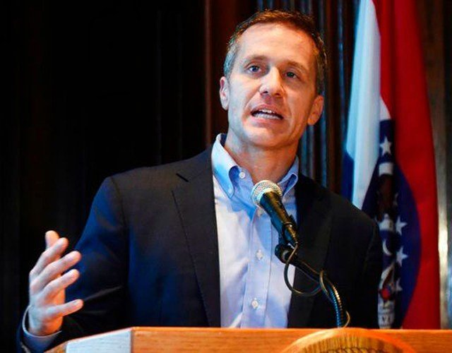 "After telling Greitens, ""I don't want this,"" the woman testified that Greitens unbound her hands. She said she started ""uncontrollably crying."" (AP)"