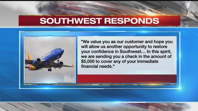 Southwest gives $5,000 checks to passengers on Flight 1380