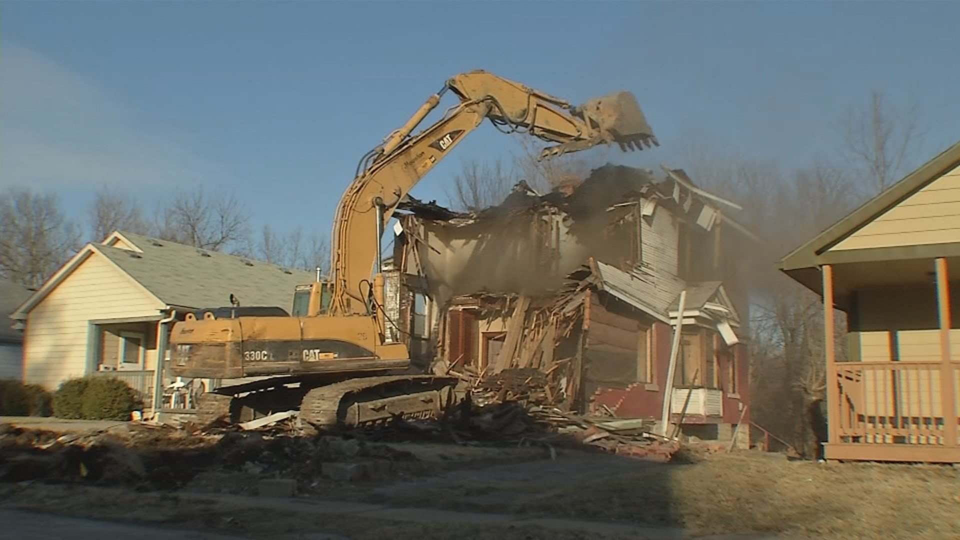 A house that was a neighborhood eyesore for more than a decade has finally been ripped down. (KCTV5)