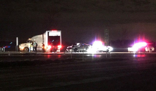 The crash happened at about 9:09 p.m. on northbound I-29 near mile marker 24. (KCTV5)