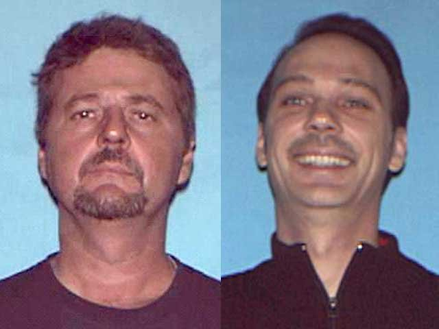 Lance Gross, 52, (left) and his brother, Marlin Gross, 49, are charged with abandonment of a corpse.