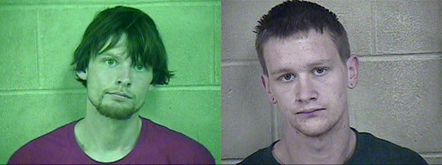 Prosecutors announced earlier this week that 20-year-old William York, of Independence, and Tristen Bishop, 21, have been charged with unlawful use of a weapon. (Jackson County Detention Center)