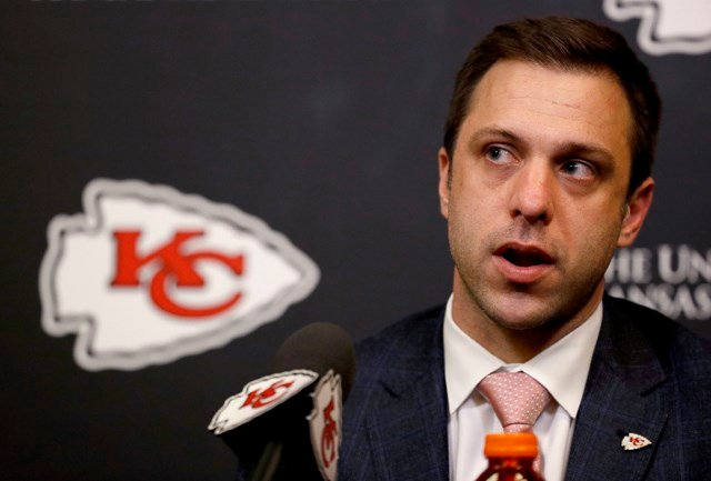 Veach, who took over last summer when John Dorsey was let go, has proven to be aggressive when it comes to trade draft picks. (AP)