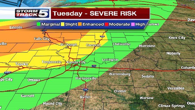 Severe thunderstorms and hail will impact Butler today