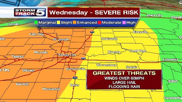 Severe weather threat lowered, but tornado still possible in Kansas City area