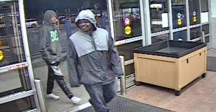 The men arrived in an SUV about 4:30 a.m. on April 26 at the store located at 7207 N. Missouri Highway 1. They stole numerous items and assaulted two employees resulting substantial injury, police say. (Gladstone Police Department)