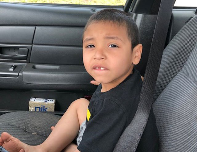 Police say they have located the parents of a child found wandering near Smart Avenue and Belmont Boulevard. (KCPD)