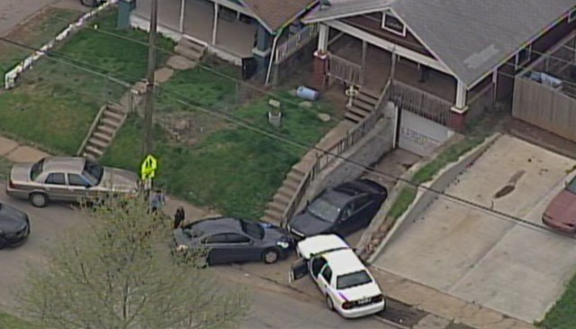 The incident started at about 5 p.m. as members of the Violent Crimes Task Force were conducting a narcotics investigation in the 2400 block of Wood Avenue. (Chopper 5)