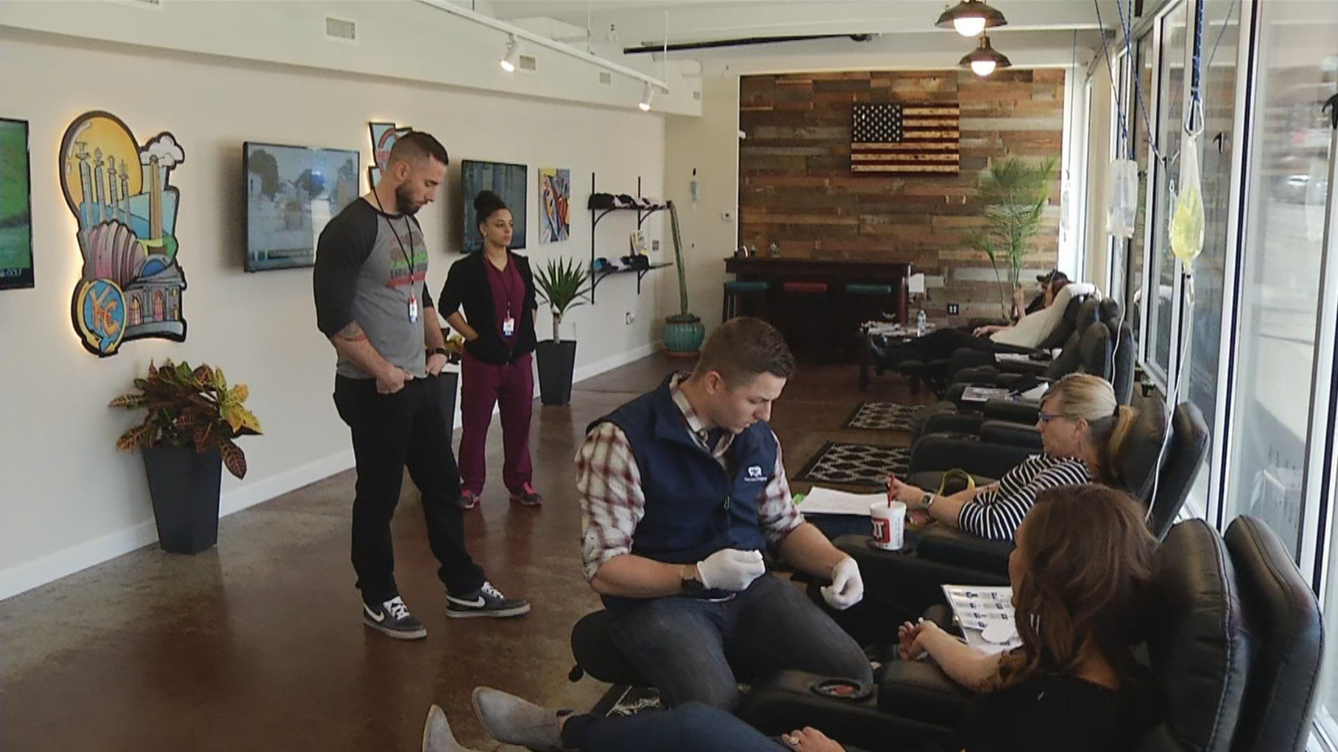 In March, Revive and Rally IV Therapy opened in downtown Kansas City.(KCTV5)