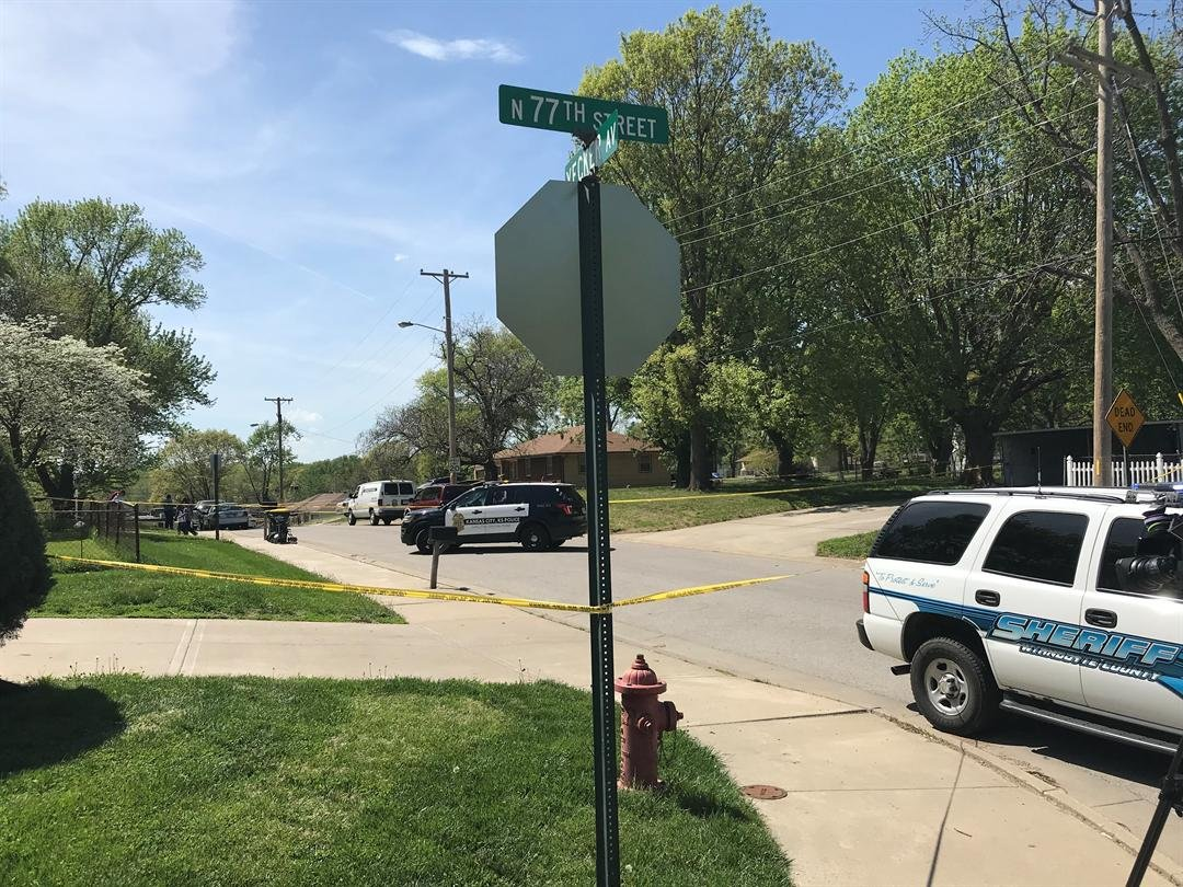 It happened at about 1:11 p.m. in the 7700 block of Yecker Avenue. (Adam Wilson/KCTV5)
