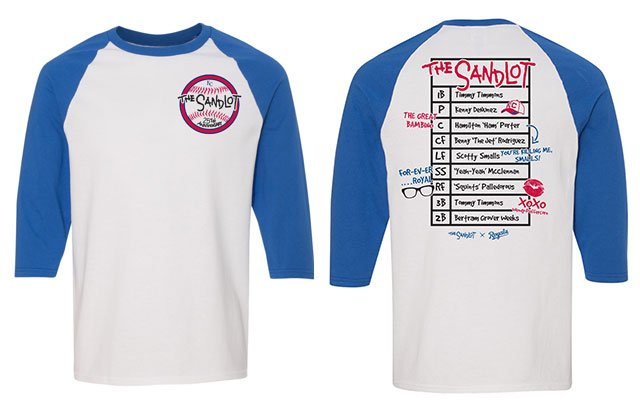 A theme ticket T-shirt packageincludes a game ticket, an exclusive Sandlot themed T-shirt and a donation to the Boys & Girls Clubs of Greater Kansas City.(Royals)
