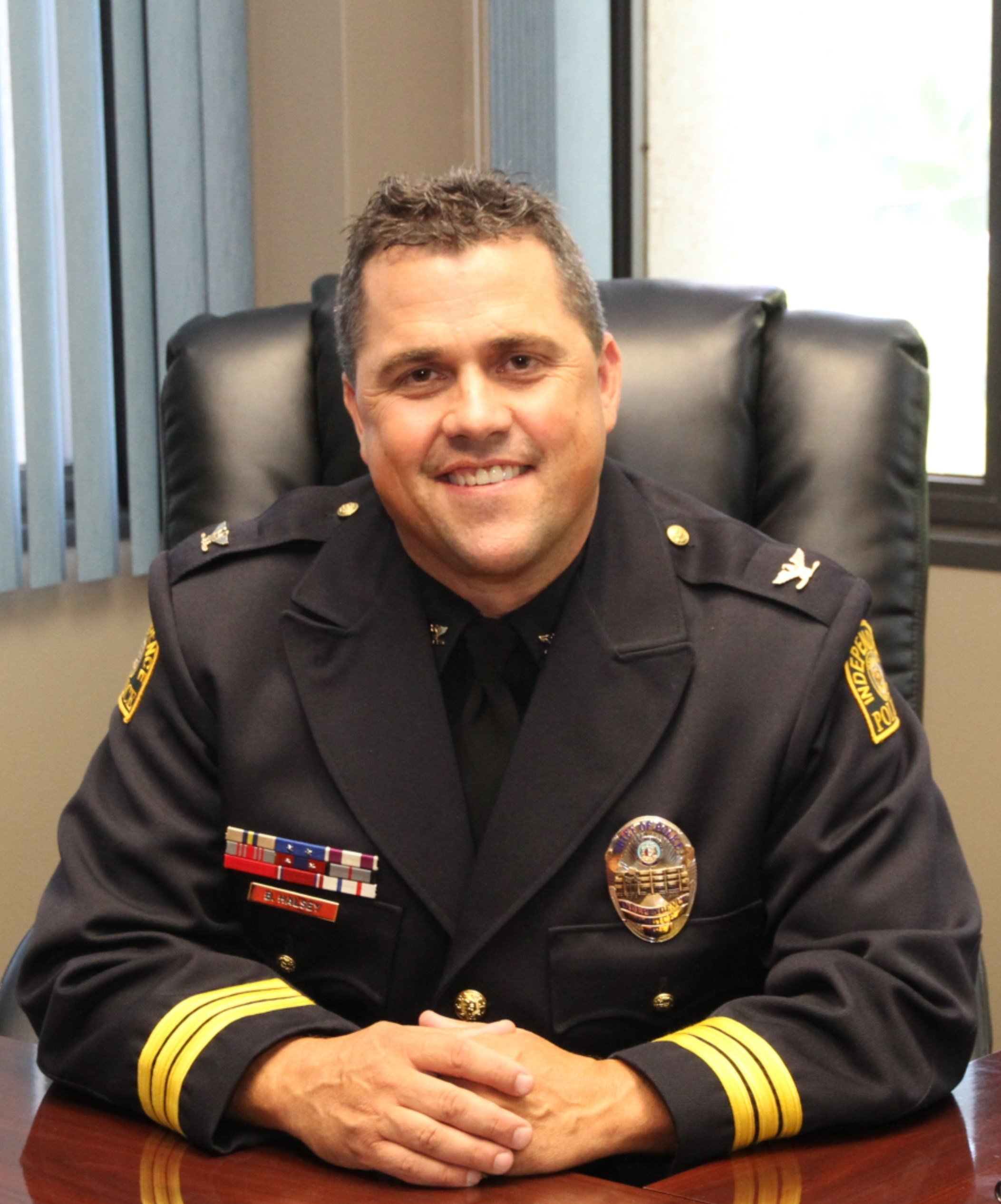 Most of the incidents alleged involved Brad Halsey, a veteran with the department who became police chief in 2016. (City of Independence)