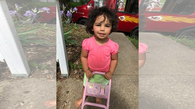 Toddler found walking in street is reunited with her with ...