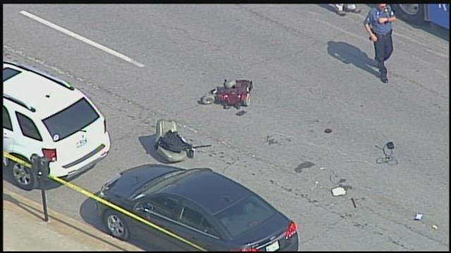 A man in a wheelchair has died after he was hit by a vehicle in downtown Kansas City. (KCTV5)