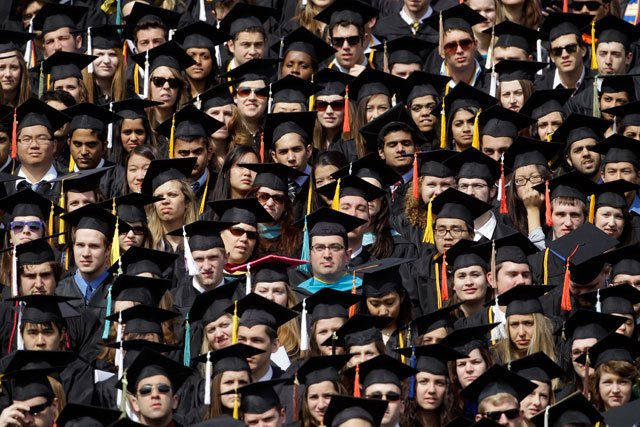 In a CareerBuilder survey, 80 percent of employers say they plan to hire college graduates, up from 74 percent last year and just 58 percent 2008. (AP)