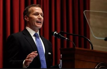 Missouri Gov. Eric Greitens is exiting office amid scandal while touting a long list of things he has accomplished. (File photo)