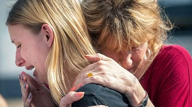 Multiple people have died as a result of a shooting Friday morning at a high school in the southeastern Texas city of Santa Fe, two law enforcement sources told CNN. (Stuart Villanueva/The Galveston County Daily News Via AP)