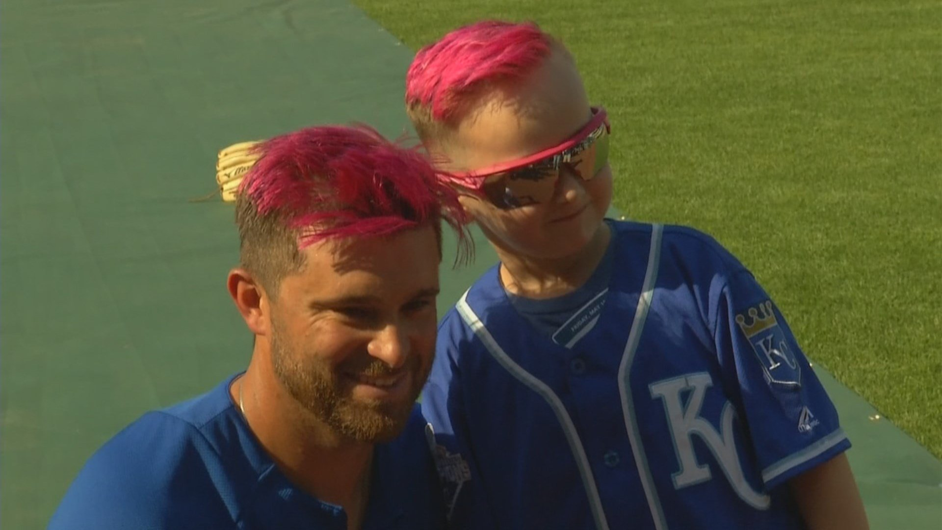 Drew Butera's hair flip, which has become a fan favorite at Kauffman Stadium, is taking a flip of a different kind. (KCTV5)