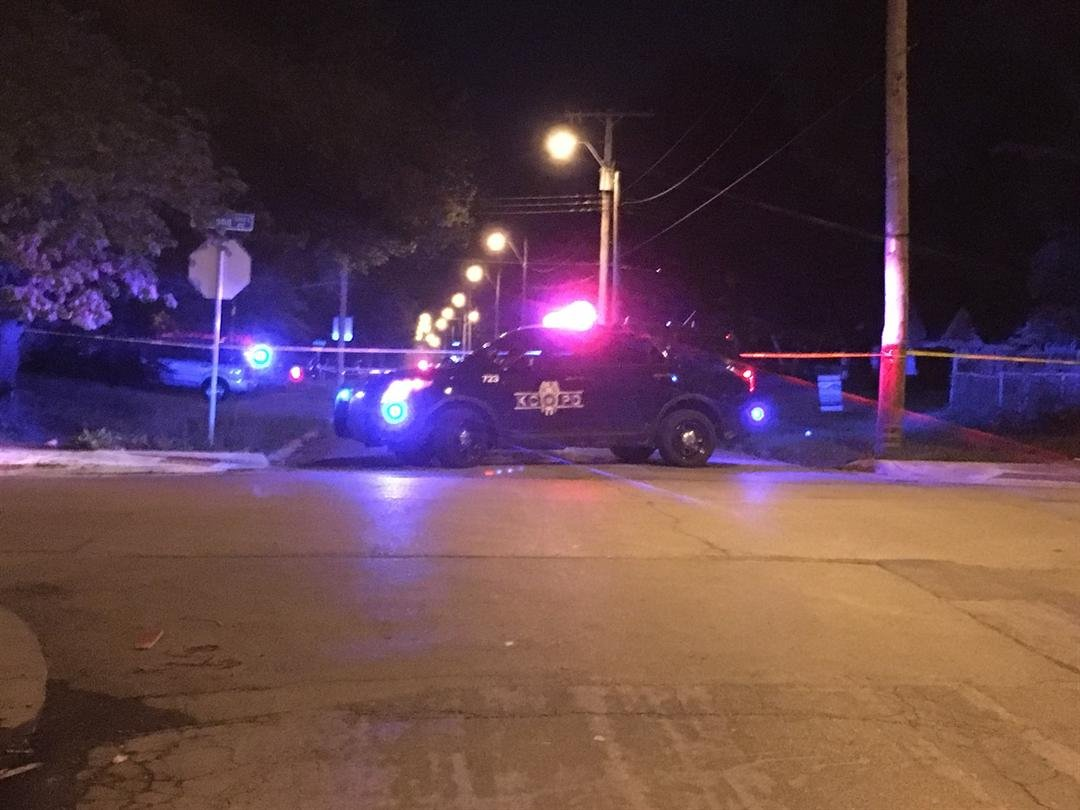 Police are investigating a double life-threatening shooting at 72nd and College on Saturday evening. (Grady Reid/KCTV5)