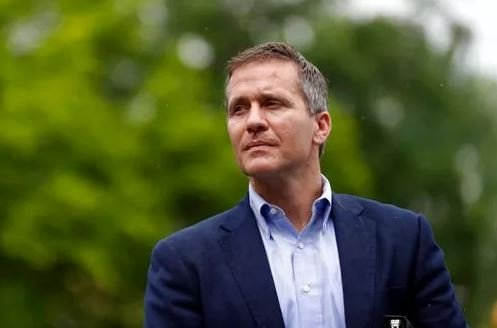 "The ad cites a criminal charge against the Republican governor that was dropped and calls on people to ""stand with Navy SEAL Eric Greitens."" (AP Photo/Jeff Roberson)."