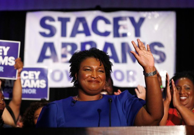 Abrams set new historical marks with a primary victory Tuesday that made her the first black nominee and first female nominee for governor of either majority party in Georgia. (AP)