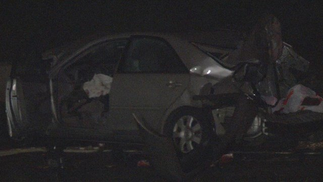 After the collision, the Toyota was hit by a sport utility vehicle. (KCTV5)