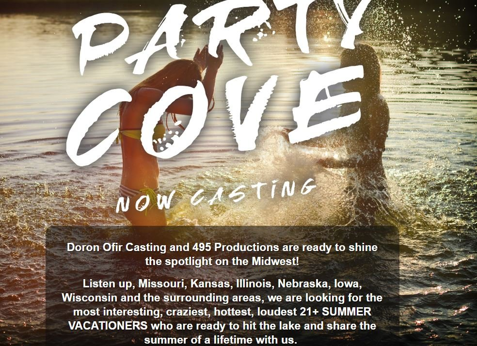 "Doron Ofir Casting and 495 Productions launched a casting call for ""Party Cove"" on Wednesday. (Doron Ofir Casting)"