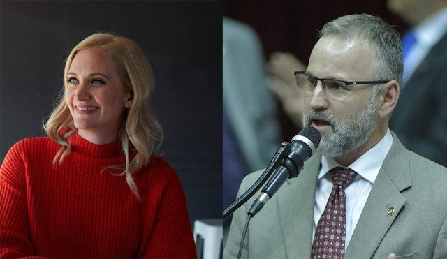 The race is between two state representatives, Republican Kevin Corlew and Democrat Lauren Arthur. (Lauren Arthur/Facebook (left) and Kevin Corlew/Facebook)