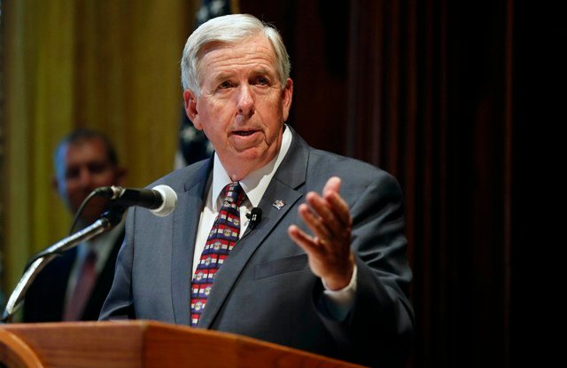 "New Missouri Gov. Mike Parson said Monday that he wants to work with the ""good team"" of cabinet members selected by former Gov. Eric Greitens. (AP)"