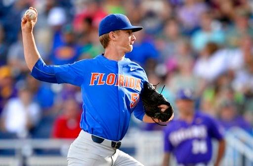 Florida Gators ace Brady Singer. (AP photo)