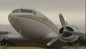 The plane was built in 1943, and it didn't actually see action in World War II, but it did participate in the Berlin airlift in 1949.