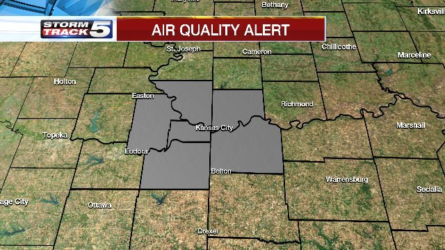 An air quality alert remains in effect for the Kansas City metro. (KCTV5)