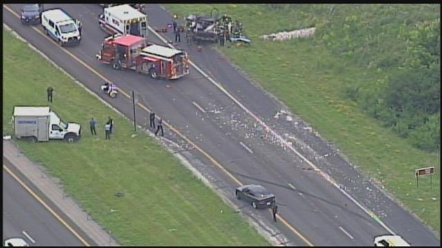 The crash happened about 11:30 a.m. Thursday at Missouri Highway 152 and Shoal Creek Parkway. (Chopper5)