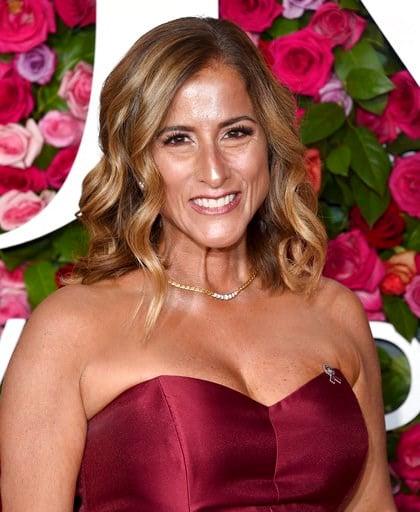 Melody Herzfeld, drama teacher from Marjory Stoneman Douglas High School, arrives at the 72nd annual Tony Awards at Radio City Music Hall on Sunday, June 10, 2018, in New York.