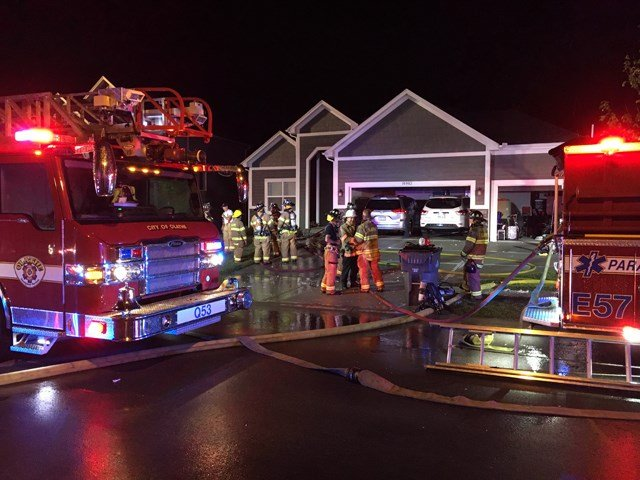 The first fire started before 12:45 a.m. at a home in the 18900 block of W 165th Street. (KCTV5)