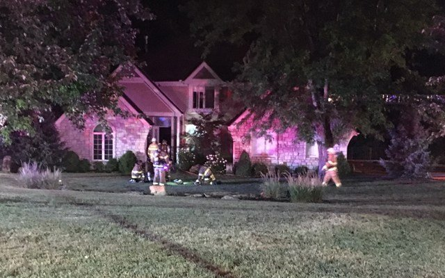 The second fire began before 1:20 a.m. at a home in the 26200 block of W 108th Street. (KCTV5)