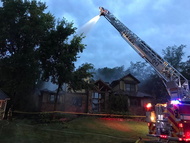 Officials say the house is a total loss. (KCTV5)