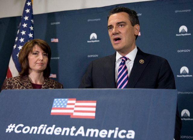 Kansas Congressman Kevin Yoder recently had a letter delivered to his office in Overland Park. It urged him to demand the US Department of Homeland Security stop separating families. (AP)