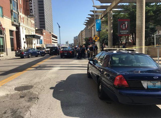 The second shooting took the lives of two men who police say were fighting over a gun and a golf cart in downtown Kansas City