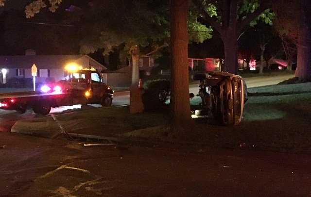 At about 2:32 a.m. an officer on patrol found the crash near 79th Street and Tomahawk Road. (KCTV5)