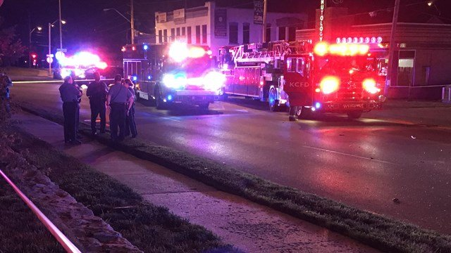 The incidents started at about 12:34 a.m. when a black Jeep Wrangler was driving west on Westport Road and hit a tan Cadillac at Mill Street. (KCTV5)