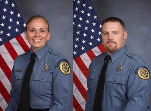 Deputy Theresa King and Deputy Patrick Rohrer. (KCTV)